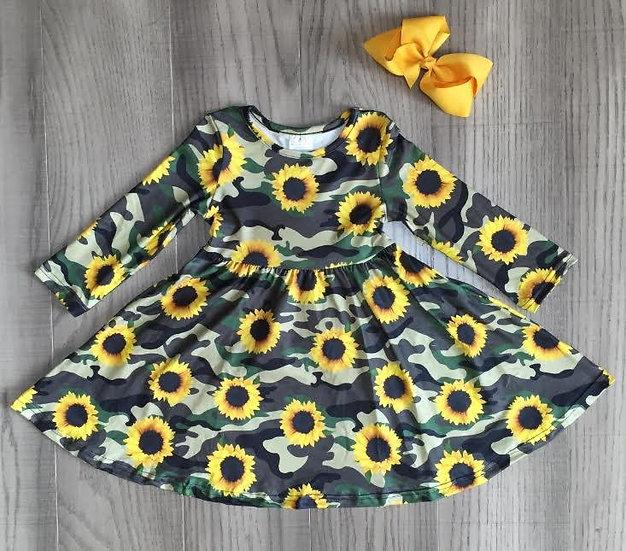 Camo Sunflower Dress
