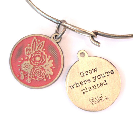 Grow Token Charm Bracelet, Necklace, or Charm Only