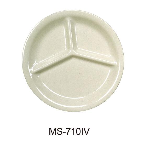 Yanco MS-710IV Mile Stone Three Compartment Plate