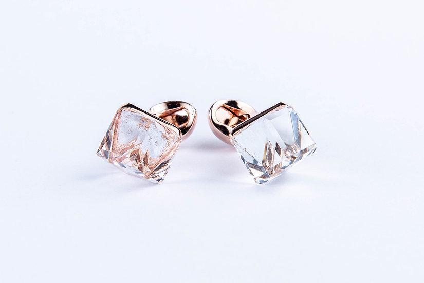 Crystal Geometry Cufflink