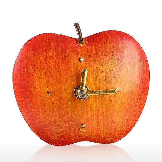 Apples Iron Clock Home Office School Decorative