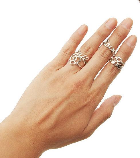 Rhodium Love Theme Five Rings