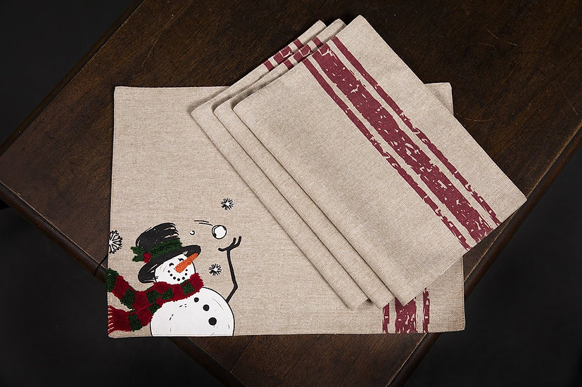 ML17128-Frosty Placemats 13''x18'', Set of 4