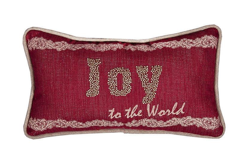 """ML17133 Joy to the world Pillow, 8""""x14"""""""