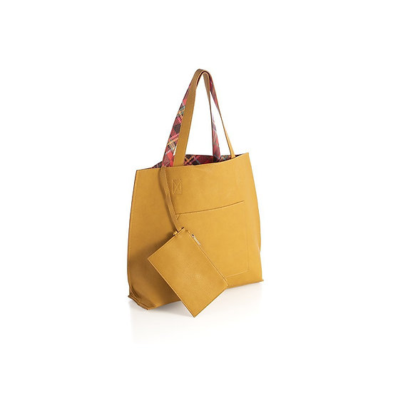 HOLLY REVERSIBLE TOTE,MUSTARD