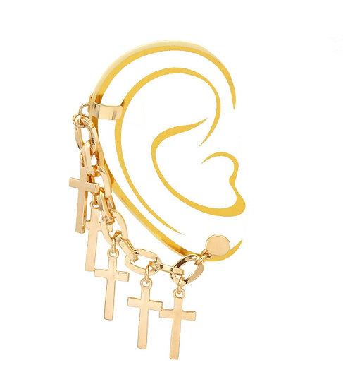 Cross Charms Ear Cuff