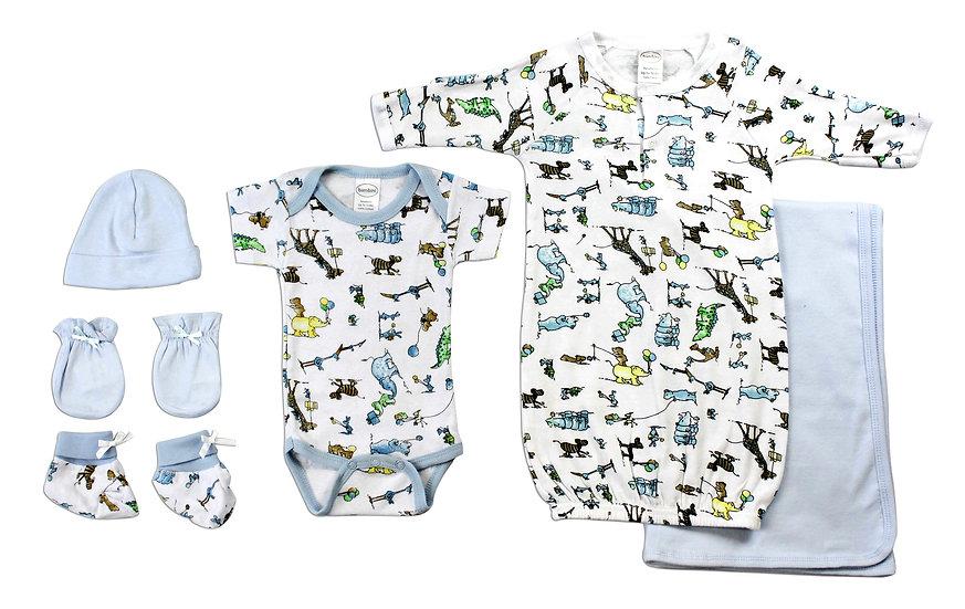 Newborn Baby Boys 6 Pc Layette Baby Shower Gift