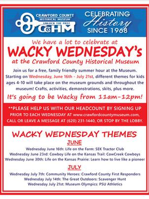 Wacky Wednesday June 16-July 21