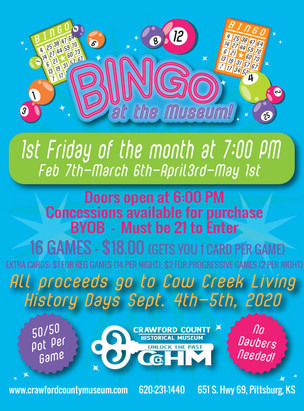 Cancelled: Bingo at the Museum!