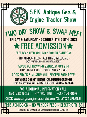 Upcoming: SEK Antique Gas & Engine Tractor Show