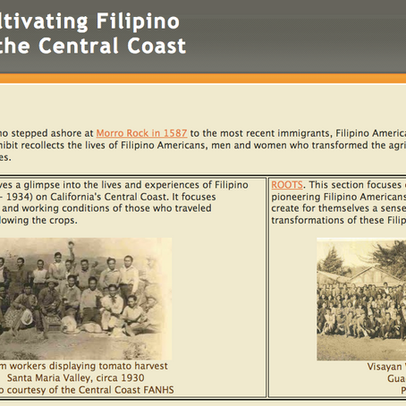 Routes and Roots: Cultivating Filipino American History on the Central Coast