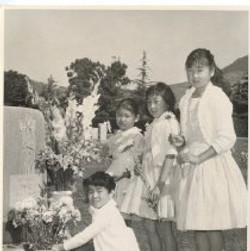 Four Japanese Girls at Grave
