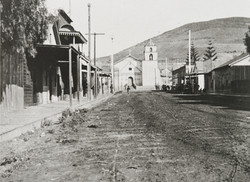 Old Chinatown; Ventura Mission in Background