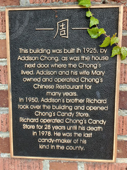 Chong's Candy Store Plaque