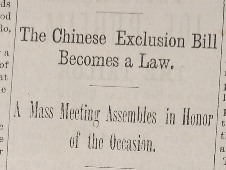 Community Reactions When Chinese Exclusion Bill Becomes A Law