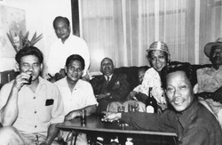 Carlos Bulosan with Union Workers