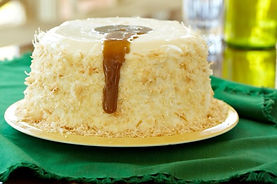Coconut Pudding with Caramel Sauce by Alex Hitz