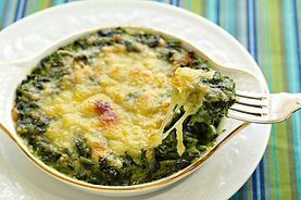 Creamed Spinach With Artichokes by Alex Hitz