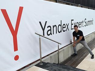 Evan Waters at the Yandex Expert Summit in Berlin