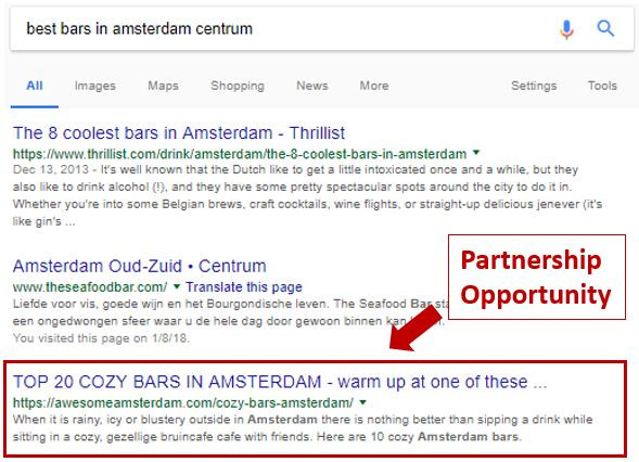 Finding potential partners is easy, just look at the search results