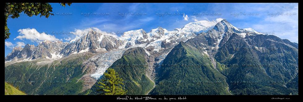 Panoramique du massif du Mont Blanc