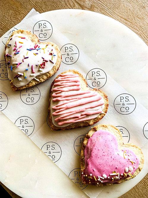 Organic Heart Hand Pies with Handmade Sprinkles