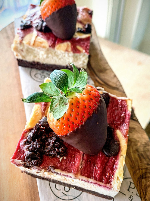 Organic Strawberry Cheesecake Brownies