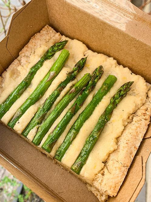 Organic Asparagus & Ricotta Tart