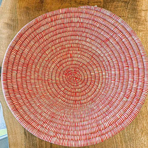 Hand-woven Large Red Bowl from Madagascar