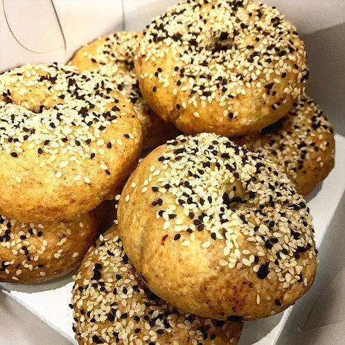 Organic Oat Flax Bagels