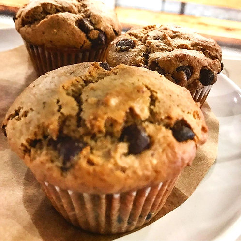 Organic Chocolate Chip, Fruit Crumb and Lemon Chia Muffins