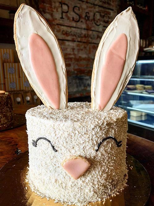 Organic Easter Bunny Cake