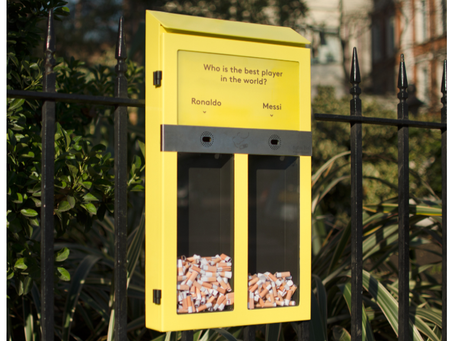 COULD BALLOT BOX ASHTRAYS BE THE SOLUTION TO HIGH BARNET'S CIGARETTE BUTT LITTER PROBLEM?
