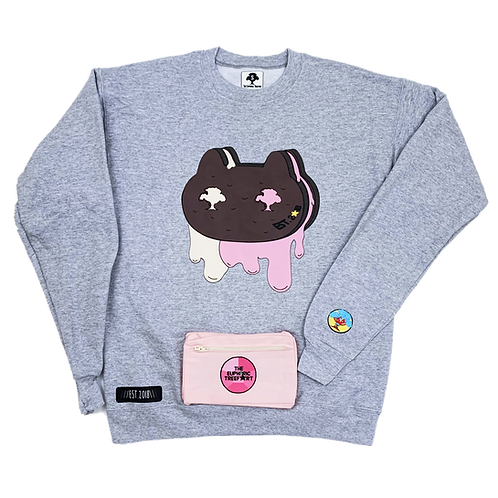 Cookie Cat Drip Fanny Pack Sweater