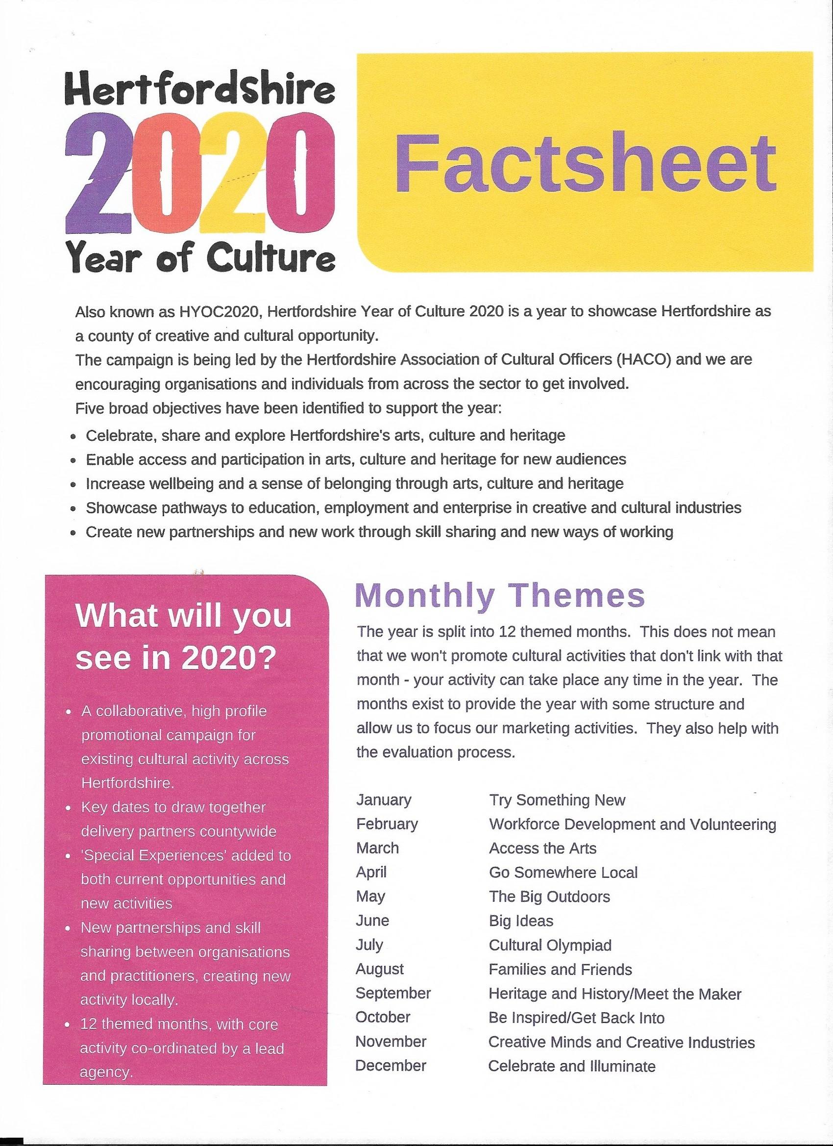 culture fact sheet