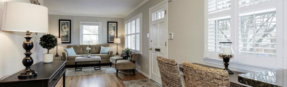 Kensington kitchen and living room