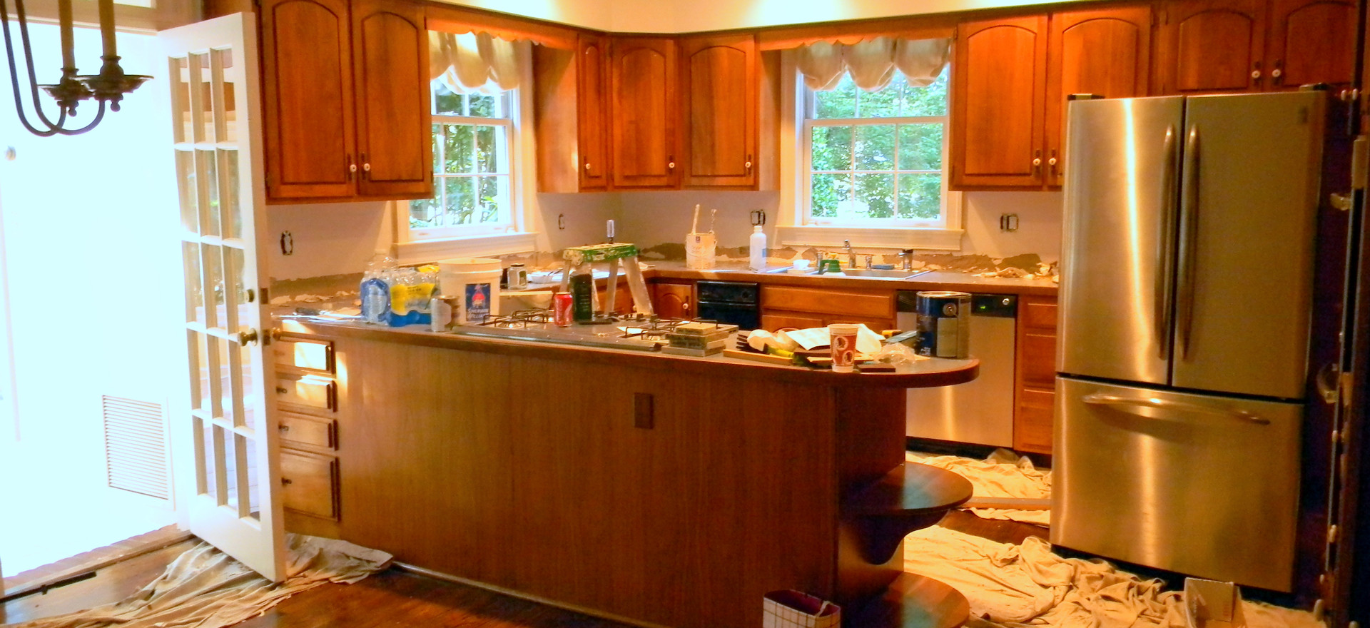 Kitchen before painting