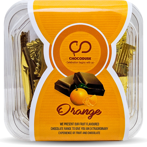 Orange Chocolate Tray