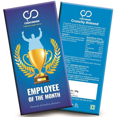 Employee Of The Month (Blue) Chocolate Bar
