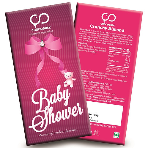 Baby Shower (Pink) Chocolate Bar