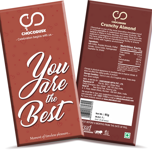 You Are The Best Chocolate Bar