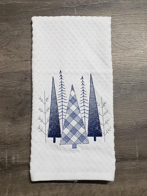 Plaid Tree Hand Towel