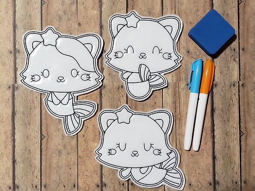Catfish Flat Coloring Dolls