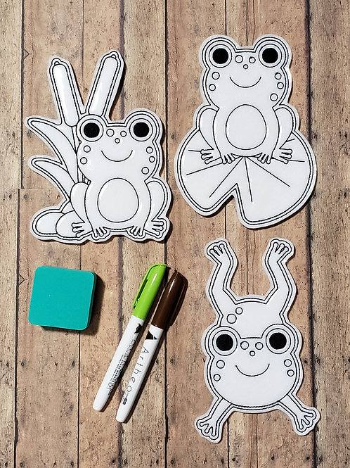 Frogs Flat Coloring Dolls
