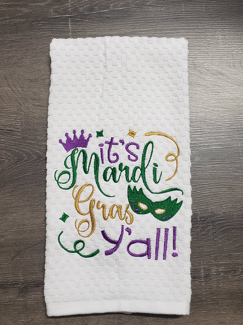 Mardi Gras Hand Towel