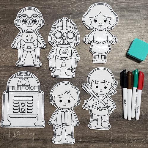 Star Wars Flat Coloring Dolls