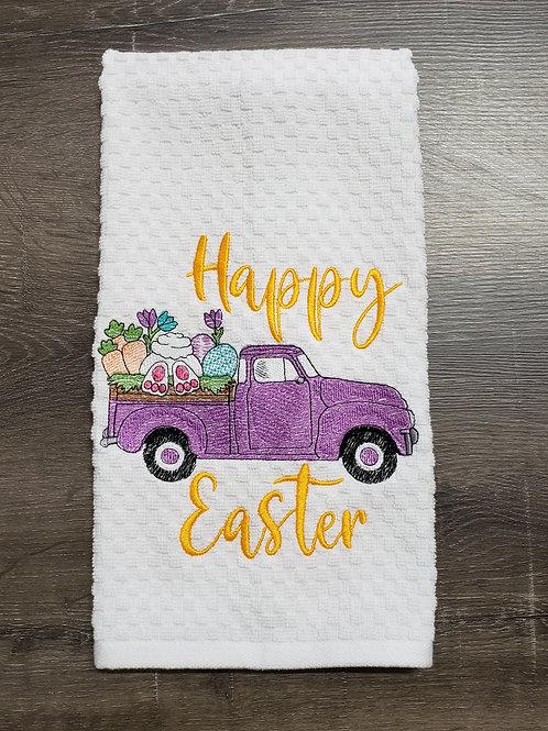 Happy Easter Truck Hand Towel