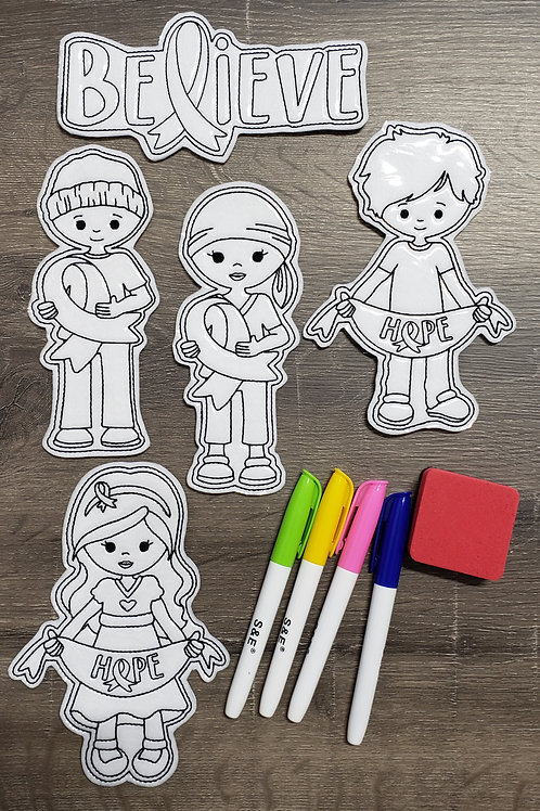 The Fight Flat Coloring Dolls