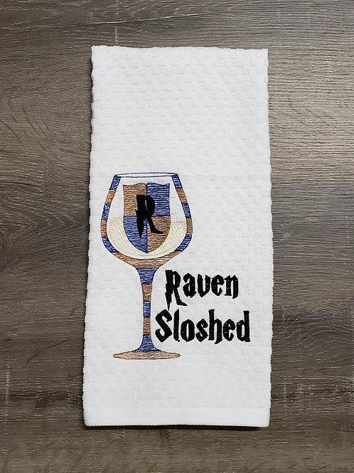 Raven Sloshed Hand Towel