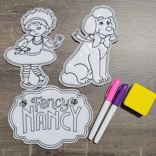 Nancy Flat Coloring Dolls